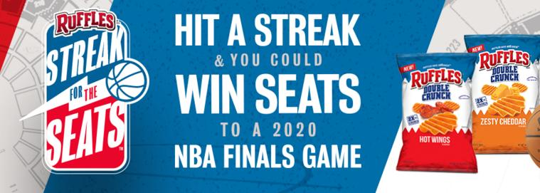 Ruffles Streak For The Seats Instant-Win Game - Win Trip To 2020 NBA