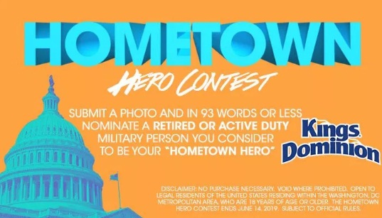KYSDC Hometown Hero Contest – Win Tickets To Kings Dominion