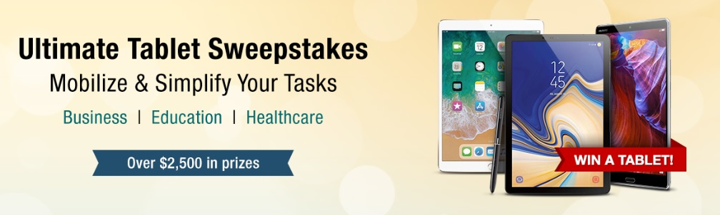 Newegg Business Ultimate Tablet Sweepstakes – Win Tablet