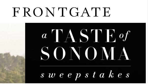 sweepstakes legal frontgate sonoma getaway sweepstakes win trip to sonoma 2555