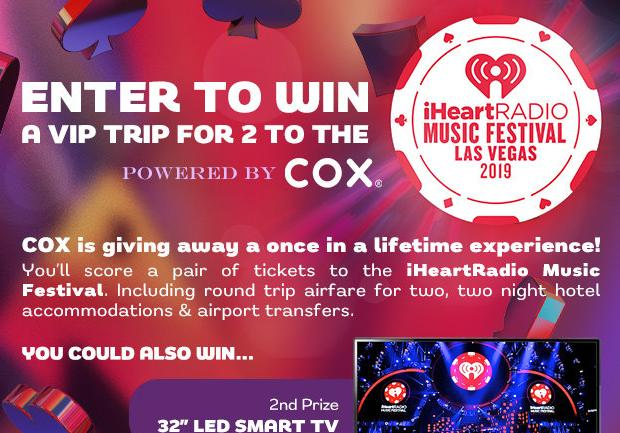 COX iHeartRadio Music Festival 2019 Sweepstakes - Win Trip