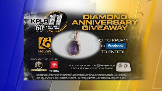 KPLR 11s Diamond Anniversary Sweepstakes - Chance To Win $1,000 Diamond Jewelry Item