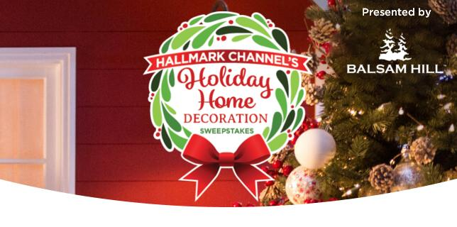 Hallmark Channel Holiday Home Decoration Sweepstakes - Win ...