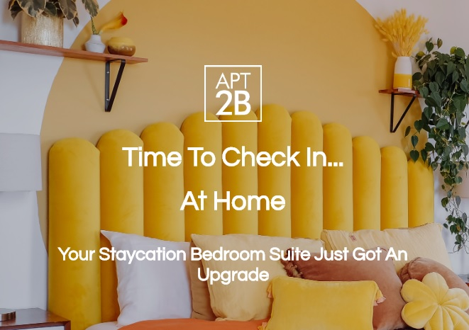 APT2B Staycation Bedroom Suite Giveaway