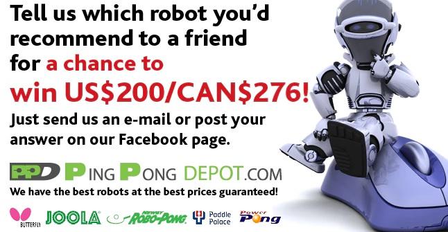 Ping Pong Depot Robot Giveaway