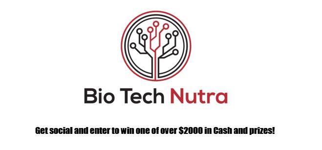 Bio Tech Nutra Cash Money Sweepstakes