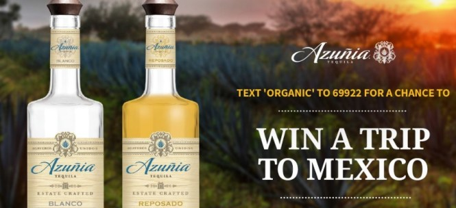 Azunia Tequila Text To Win Sweepstakes
