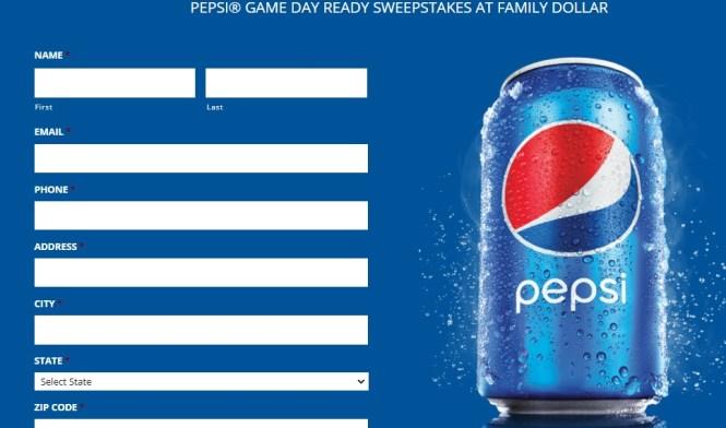 Pepsi Family Dollar Game Day Ready Sweepstakes
