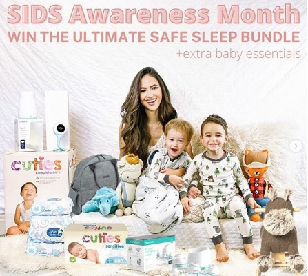 Cuties Baby Care, Safe Sleep Giveaway