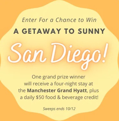 Red Tricycle Getaway To Sunny San Diego Sweepstakes
