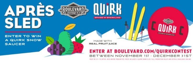 Boulevard BEVERAGE Company Boulevard Beverage Quirk Sled Sweepstakes