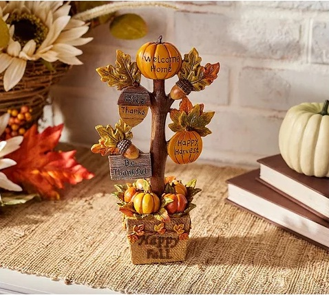Meredith Corporation Autumn Tree With Message Pumpkins Daily Sweepstakes