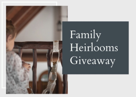 One Mercantile Family Heirlooms Giveaway