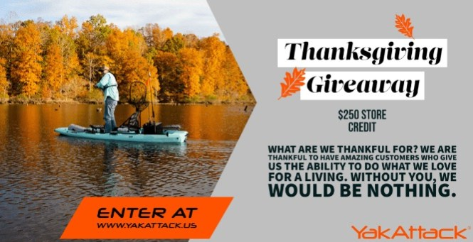 YakAttack Thanksgiving $250 Gift Card Giveaway