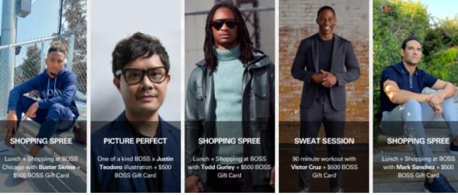 Hugo Boss Retail BOSS Gives Back Sweepstake