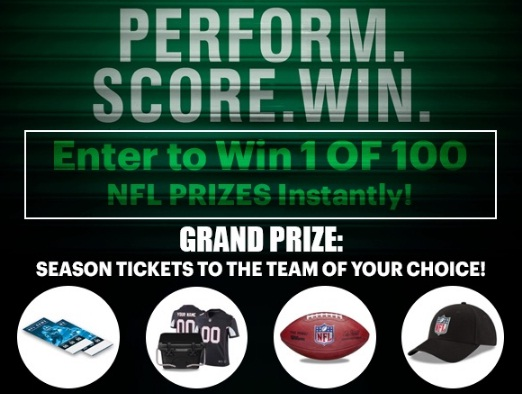 NFL Perform Score And Win Instant Win Game Sweepstakes