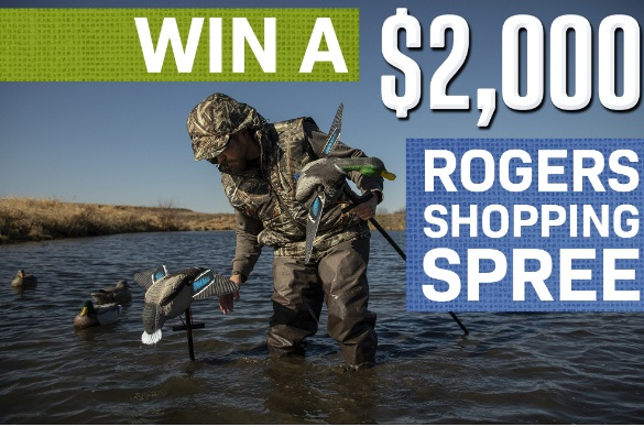 Roger Sporting Goods $2000 Shopping Spree Giveaway