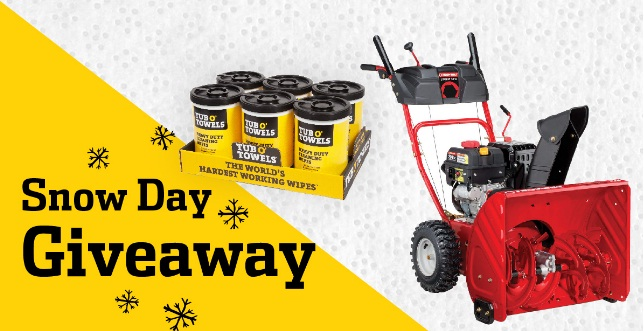 Tub O Towels Snow Days Giveaway