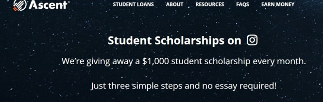 Ascent $1,000 Monthly Scholarship Giveaway