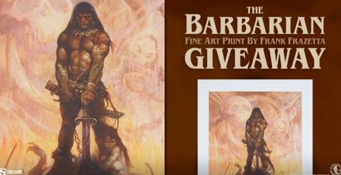 Sidesho Sideshow The Barbarian Fine Art Print Giveaway