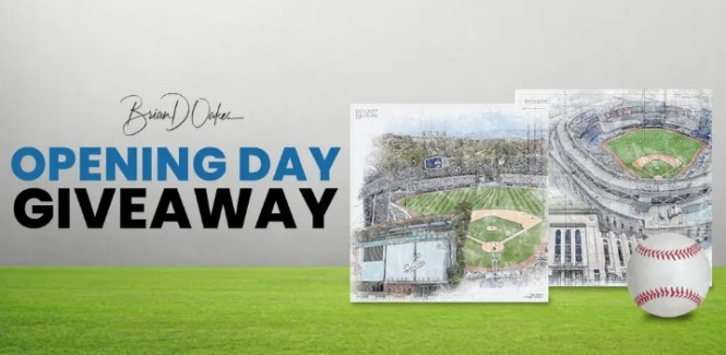 Brian D. Oakes Opening Day Giveaway