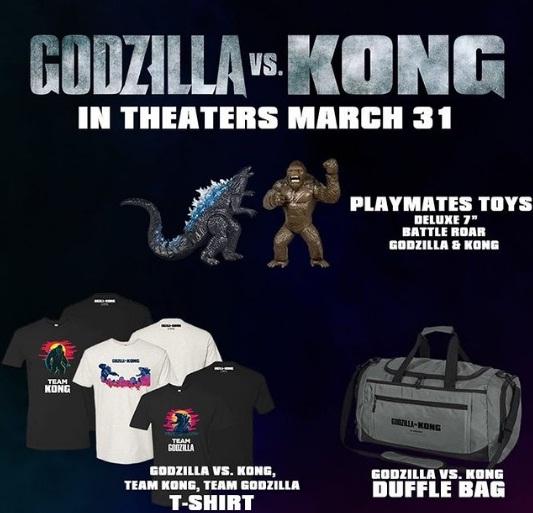 Cinemark Godzilla Vs Kong Prize Pack Sweepstakes