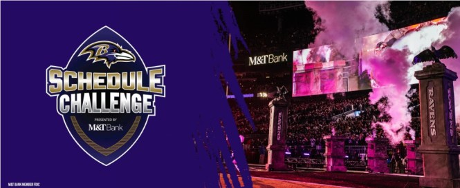 M And T Bank Baltimore Ravens Schedule Challenge Sweepstakes