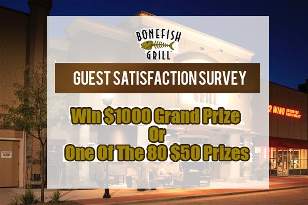 Bonefish Grill Customer Satisfaction Survey Sweepstakes 2018