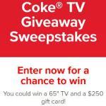 Coke TV Giveaway Sweepstakes – Win $250 Gift Card