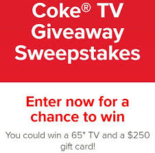 Coke TV Giveaway Sweepstakes - Win $250 Gift Card
