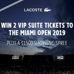 Lacoste Sweepstakes – Win $4,600 VIP Suite Tickets