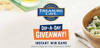 Treasure Cave Cheese Dip a Day Instant Win Game