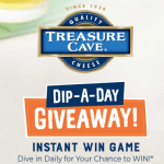 Treasure Cave Cheese Dip a Day Instant Win Game – Win $6,999 Prize