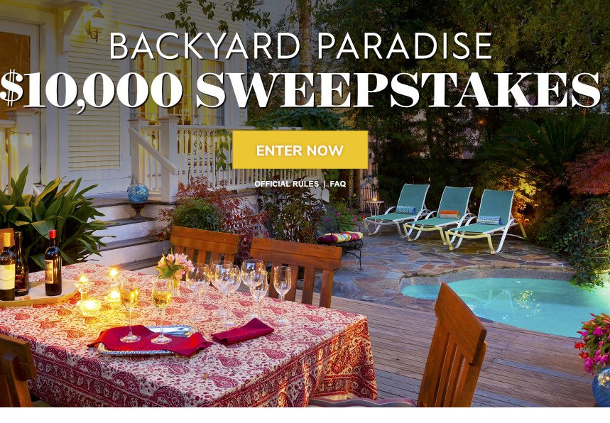 Backyard Paradise Sweepstakes