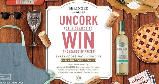 Beringer Main & Vine Wine & Win Sweepstakes