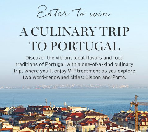 Go to Portugal Sweepstakes - Win $4,995 Trip for Two to Lisbon and Porto