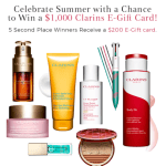 Kickoff to Summer Sweepstakes – Win $1,000 Clarins e-Gift Card