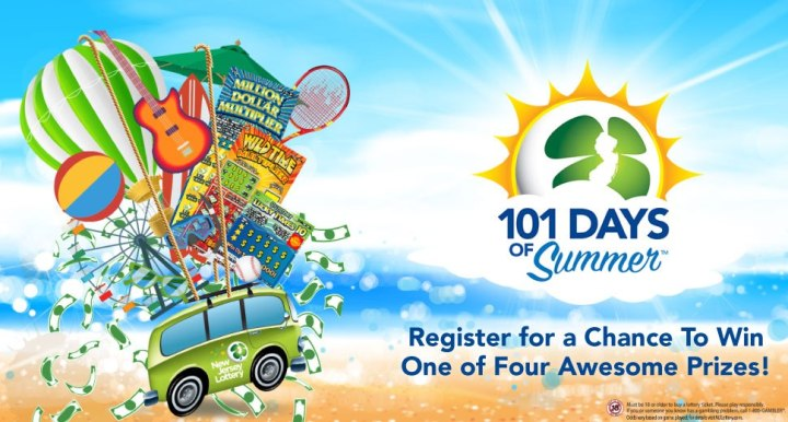 New Jersey Lottery 101 Days Of Summer Sweepstakes - Win $500