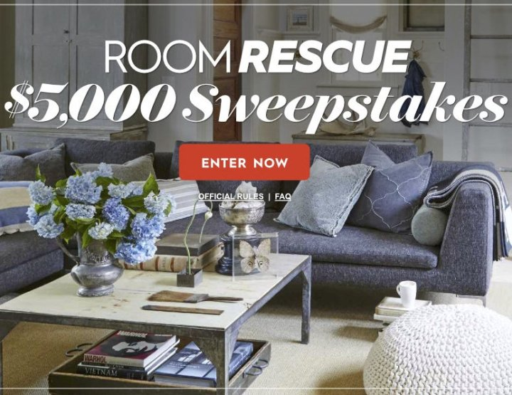 Room Rescue Sweepstakes - Win A $5,000 Check