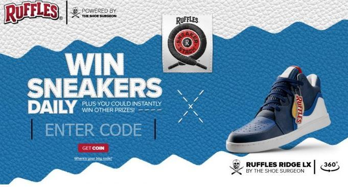 RUFFLES Sneaker Stash Sweepstakes - Win Lots Of Instant Prizes