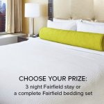 The Fairfield Store Sweepstakes – Win $1,500 Fairfield Bedding Set