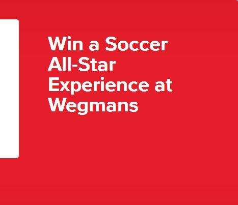 The Soccer All-Star Experience At Wegmans Sweepstakes