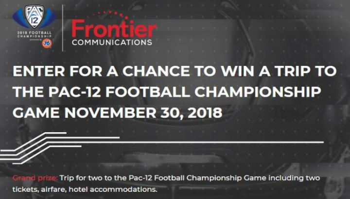 Frontier Pac-12 Networks Sweepstakes