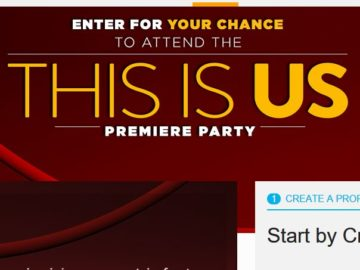 NBC's This is Us Premiere Party Sweepstakes