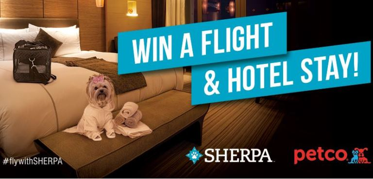 Sherpapet.com Fly with Sherpa Sweepstakes