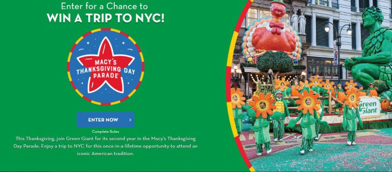 Green Giant New York City Thanksgiving Sweepstakes