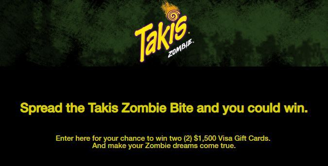 Takis Spread the Bite of Zombie Sweepstakes 2018