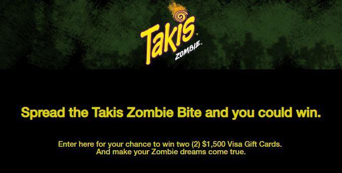 Takis Spread the Bite of Zombie Sweepstakes 2018