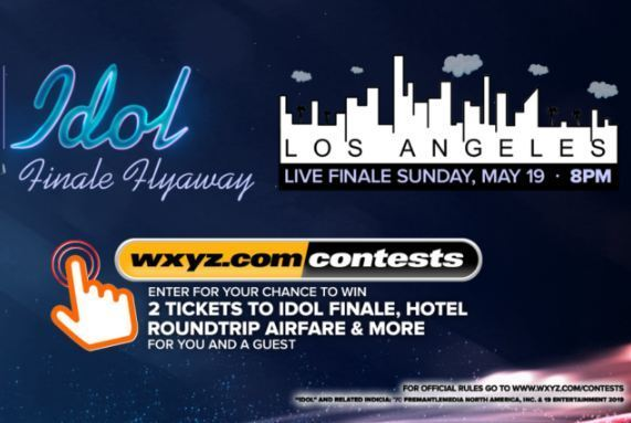 WXYZ American Idol Live Finale Contest-Win A Trip for two to Los Angeles