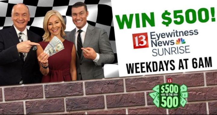 WTHR 500 To The 500 Contest - Win $500
